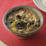 鶏肉と高菜のピリからつけ麺