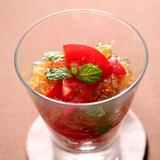 トマトと生姜のコンソメジュレサラダ