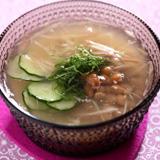 納豆と香采のかんたん冷汁