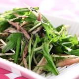 ミョウガと水菜の和風サラダ