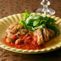 鶏もも肉のグリル トマトソース添え