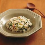 白い根野菜のツナリゾット