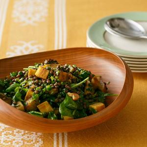 ローストさつまいもとレンズ豆のサラダ