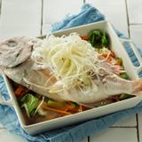 春野菜と鯛の酒蒸し