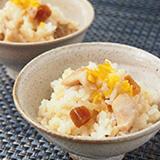 大和肉鶏と奈良漬けの炊き込みご飯