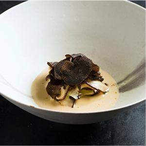 椎茸サラダとチーズのスープ