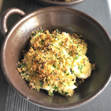帆立貝と長芋の香草焼き