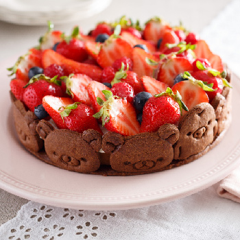 リラックマとキイロイトリのクッキーケーキ