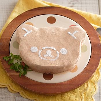 リラックマステンシルアイスケーキ