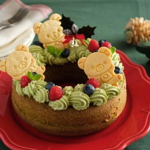 コリラックマの抹茶リースケーキ