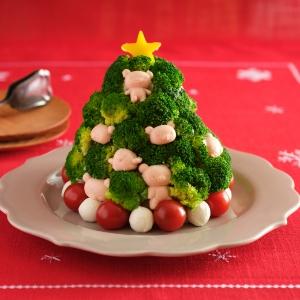 サーモンテリーヌのツリーサラダ