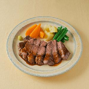 アンガス牛ステーキ わさび醤油ソース