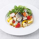 鯖のコンフィ サラダ仕立て