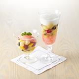 フルーツのミキュイとカンパリ風味のソルベ