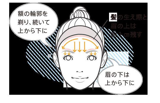 正しい顔の産毛の剃り方 | 貝印のカミソリポータルサイト